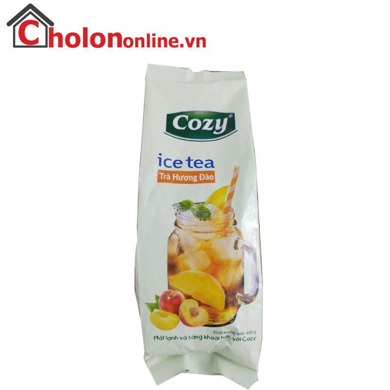 Trà Cozy ice tea đào hoà tan gói 400g