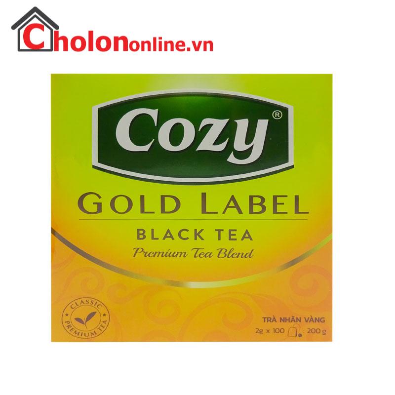 Trà Cozy trà đen nhãn vàng hộp lớn 100 gói