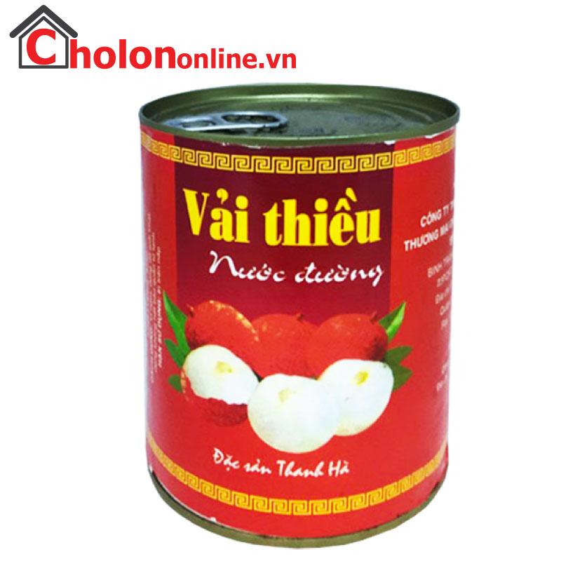 Vải thiều đóng hộp Thanh Hà 565g