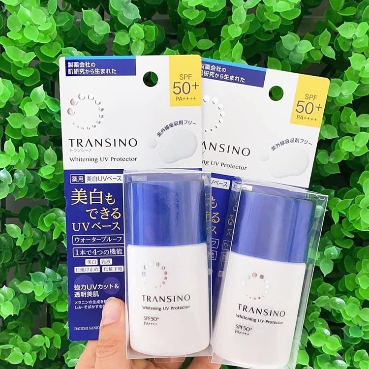 Kem Chống Nắng Transino Whitening UV Protector SPF 50+ PA++++ 30ml   Mặt  Hoa Da Phấn
