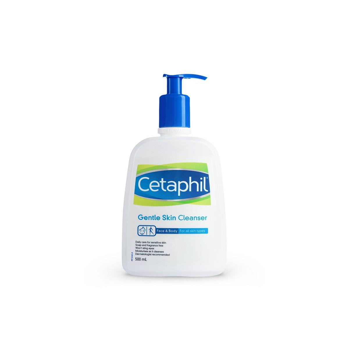 SRM Cetapil Gentle Skin Cleanser Face & Body 500ml