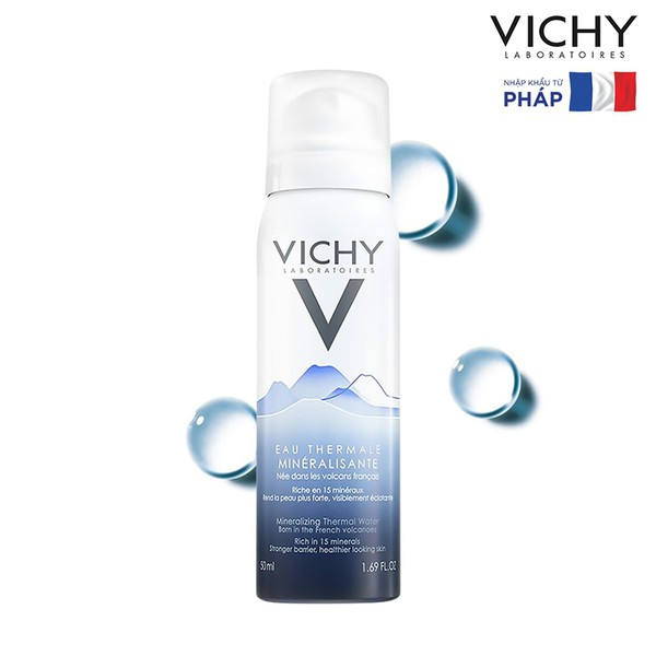 Xịt Khoáng Vichy Eau Thermale Mineralizing Water 50ml CTY
