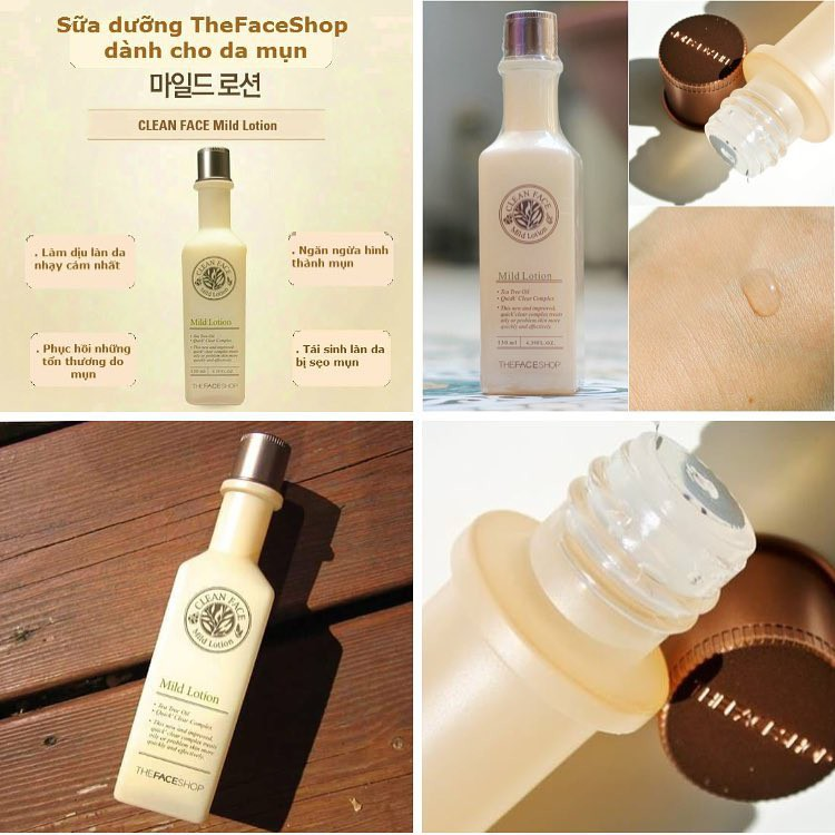 Sữa Dưỡng TFS Clean Face Mild Lotion 130ml