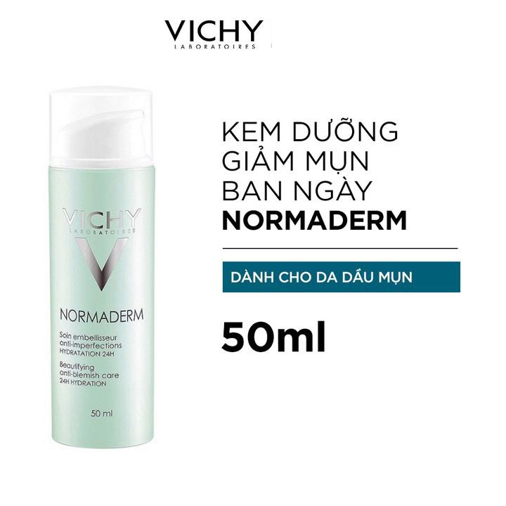 Kem Dưỡng Vichy Normaderm Anti-Blemish Care 24H Hydration 50ml