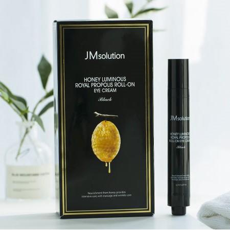 Thanh Lăn Dưỡng Mắt JMsolution Honey Luminous Royal Propolis Roll-on Eye Cream 15ML #Black