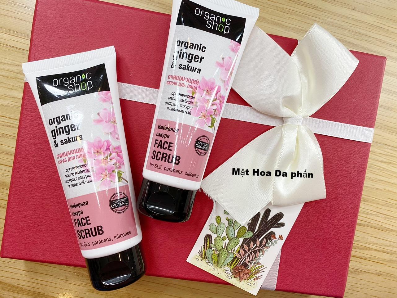 Tẩy TBC Organic Shop Ginger & Sakura 75Ml