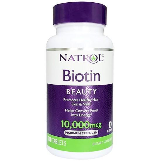 TPCN Natrol Biotin Beauty 10000Mg (100 Viên)