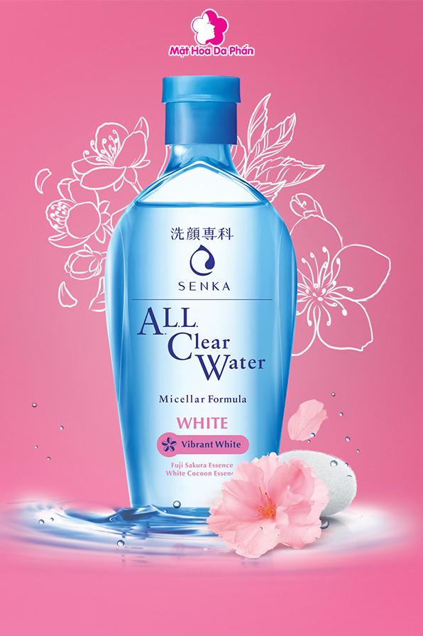 Nước Tẩy Trang Senka ALL Clear Water White 230ML