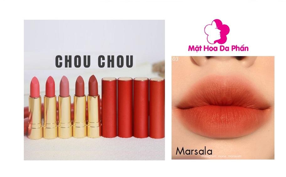 Son Chouchou Signature Premier Matt Rouge Red #03 Marsala