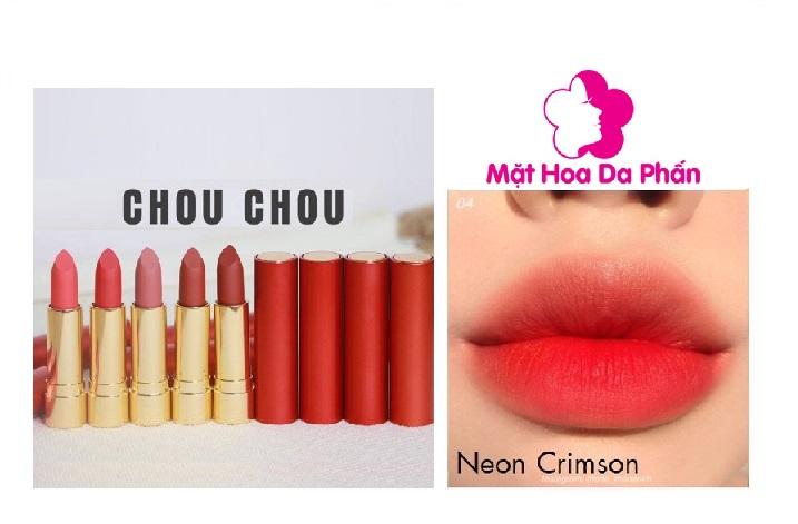 Son Chouchou Signature Premier Matt Rouge Red #04 Neon Crimson