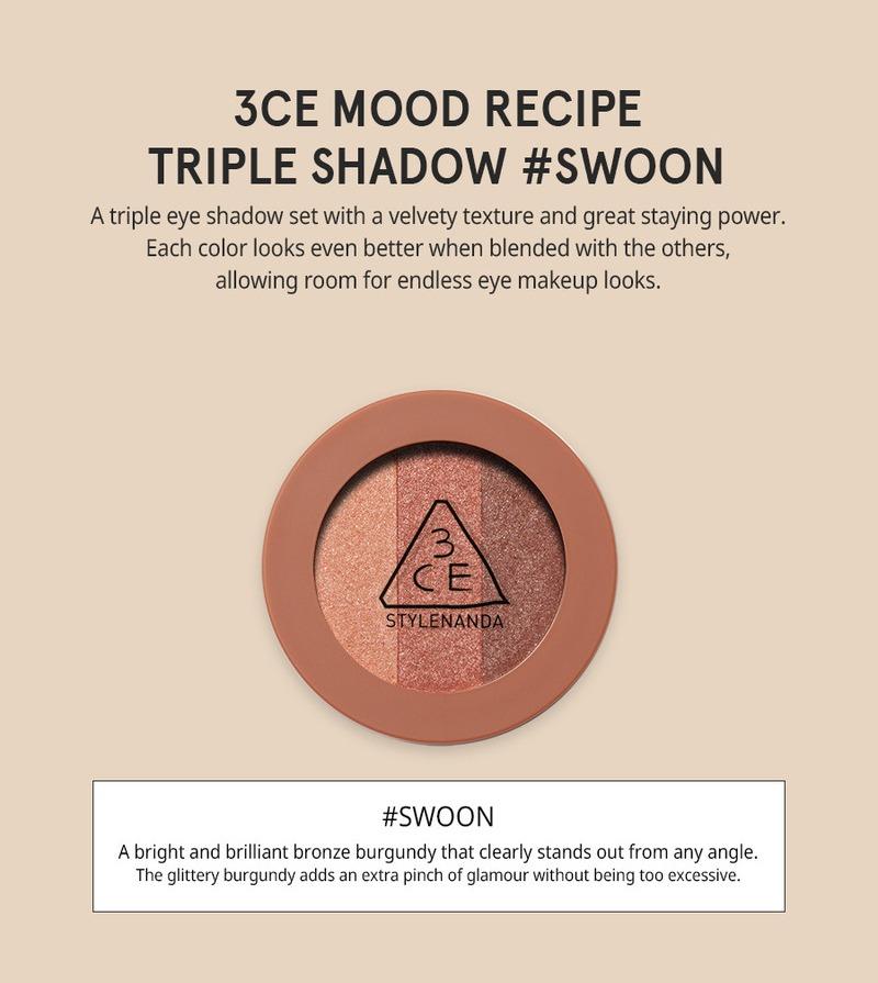 Màu Mắt 3CE Triple Shadow #Swoon