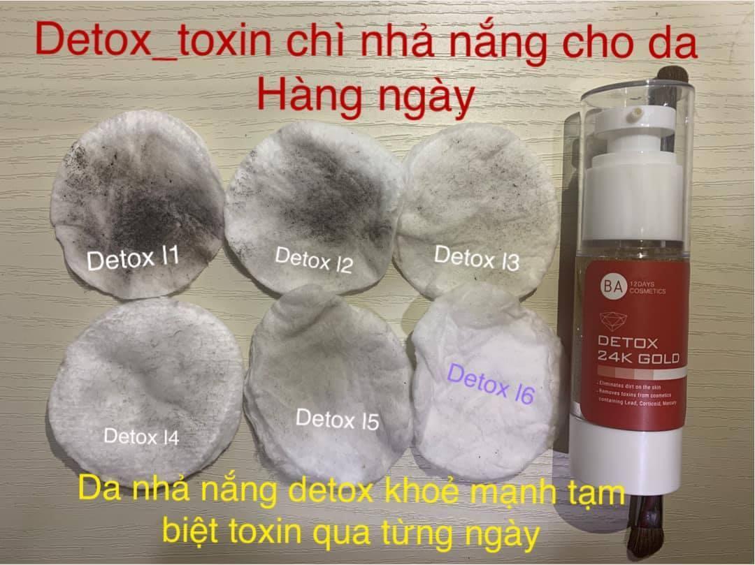 Thải Độc Da Detox 24k Gold BA12Days Cosmetics 45ml