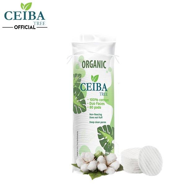 Bông Tẩy Trang Ceiba Tree Organic Cotton Pads 80m