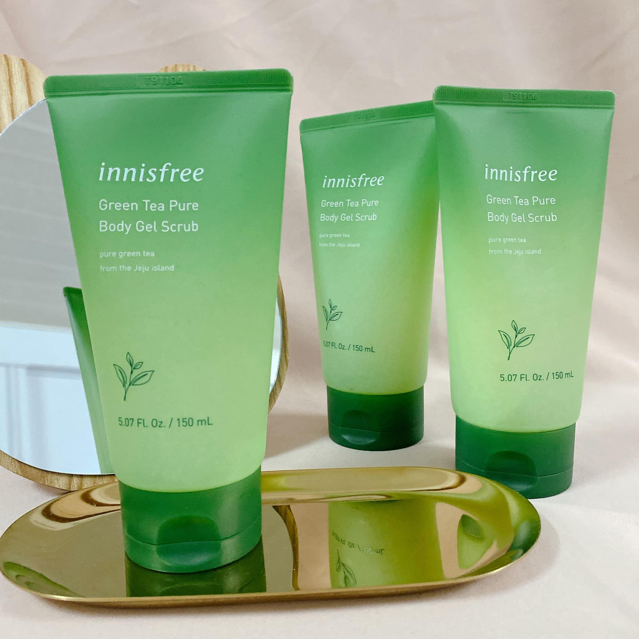 Tẩy TBC Innisfree Green Tea Pure Body Gel Scrub 150ml