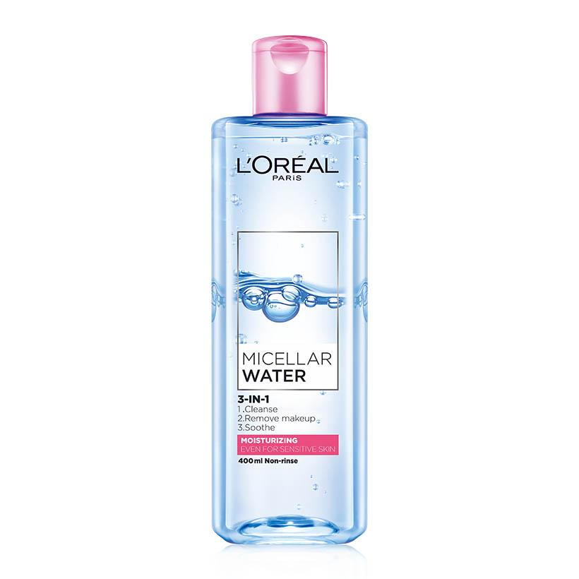 Tẩy Trang L'Oreal Micellar Water #Moisturizing (Hồng) 400ML