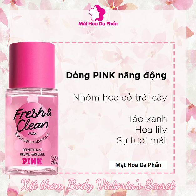 Xịt Body Pink 75ml Fresh & Clean