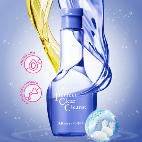 Gel Rửa Mặt Tẩy Trang Senka Perfect Clear Cleanse 2 Trong 1 170ml