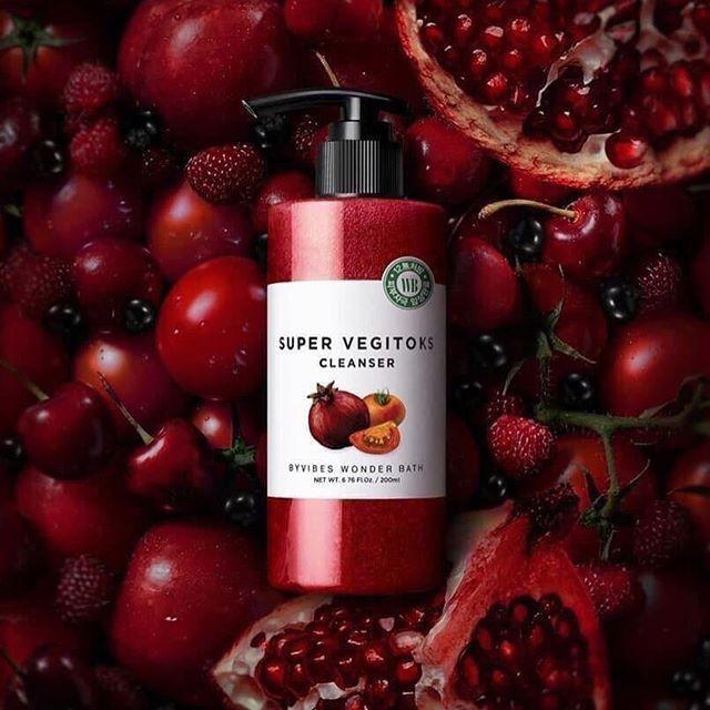 SRM Wonder Bath Super Vegitoks Cleanser 200ml #Red