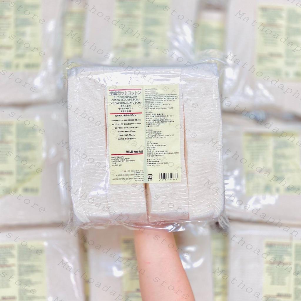 Bông Tẩy Trang Muji Cut Cotton Ecru 180 Miếng