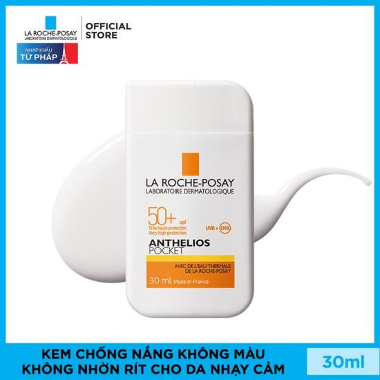 Kem Chống Nắng Không Nhờn Rít Cho Da Thường & Da Khô Nhạy Cảm La Roche-Posay Anthelios Ultra Light Travel Size SPF50+ UVB & UVA 30ml