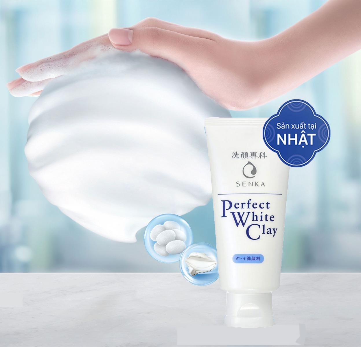 Sữa Rửa Mặt Tạo Bọt Senka Perfect Whip Clay 50g