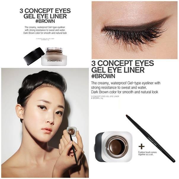 Gel Kẻ Mắt Không Trôi 3CE Gel Eye Liner #Brown