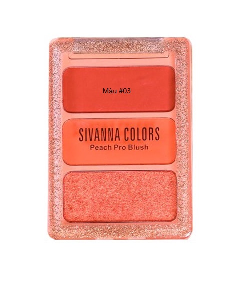 Phấn má Sivanna Peach Pro Blush #03