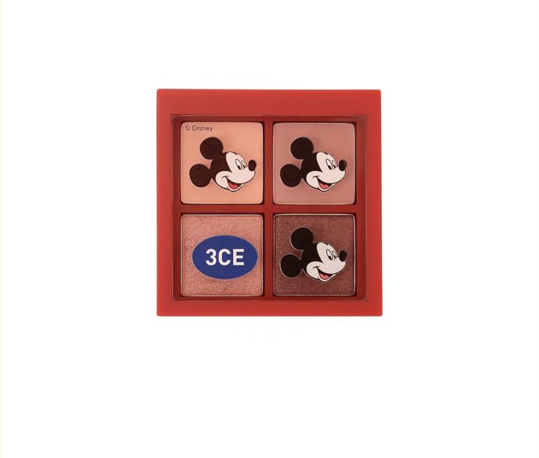 Phấn mắt 4 ô 3CE mini Multi Eye Color Palette màu Side By Side (Disney)