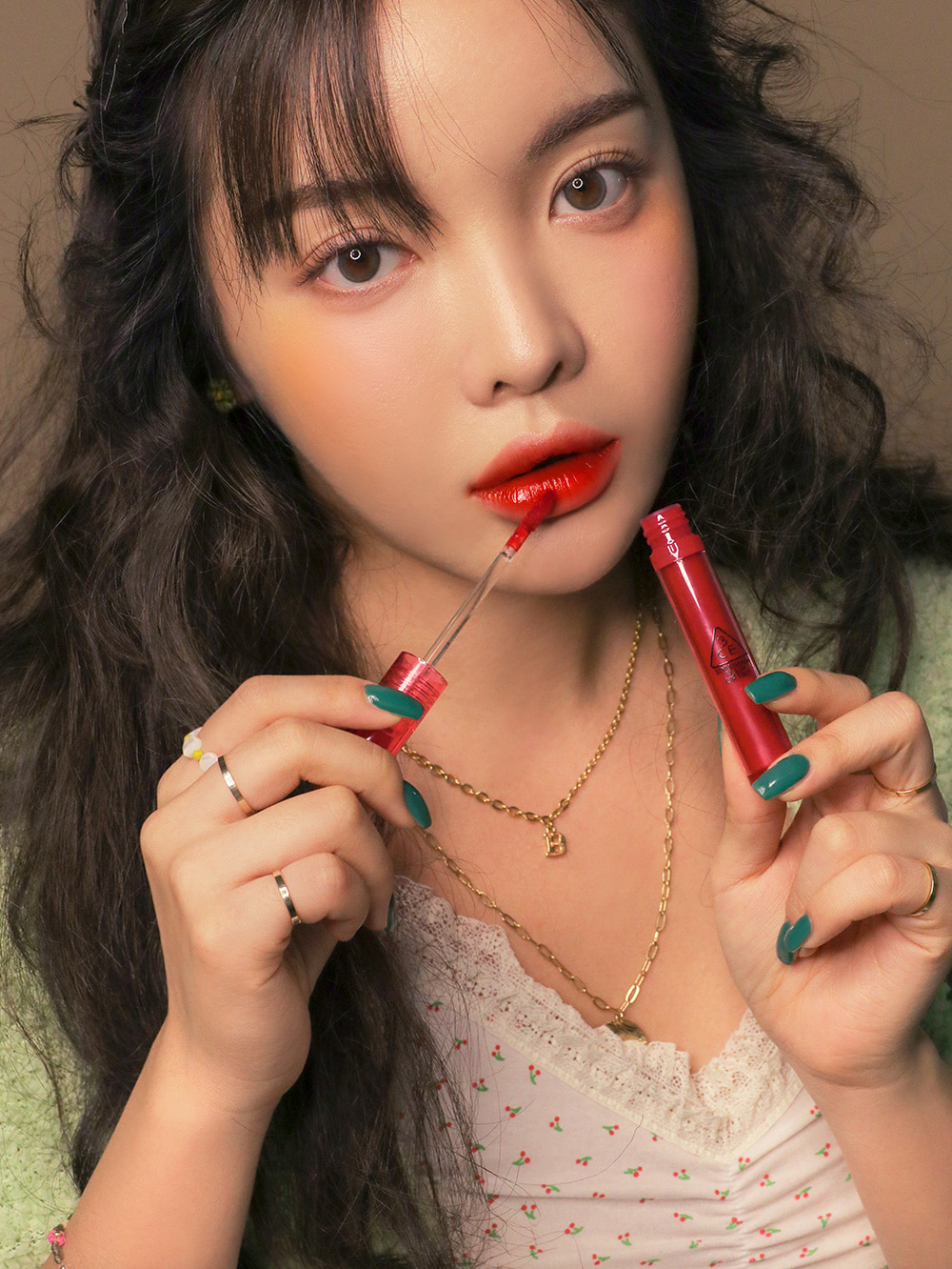 Son 3CE Flash Lip Tint #Taking Red