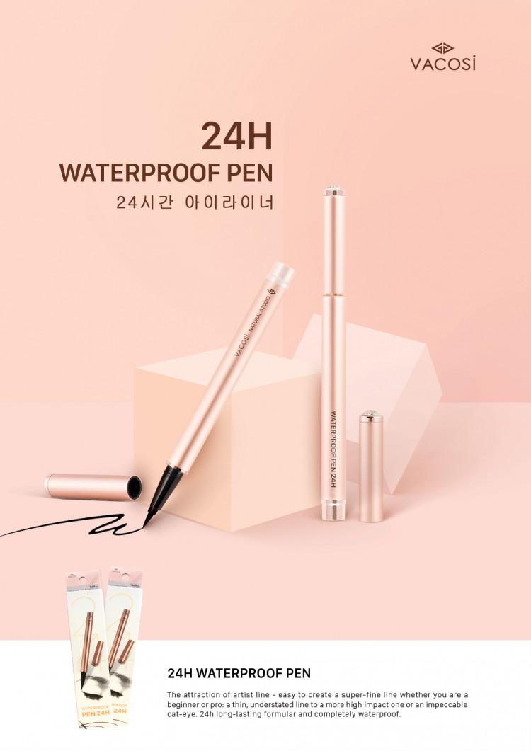 Kẻ Mắt Nước Vacosi Waterproof Pen 24H