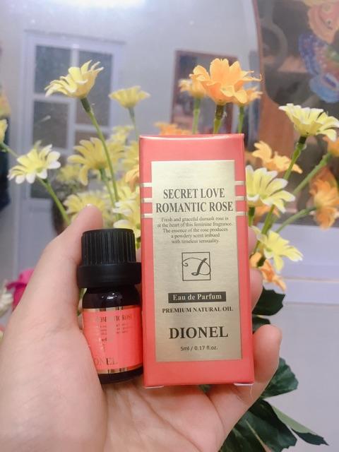 Nước Hoa Dionel Secret Love Romantic Rose 5ml (Cam)
