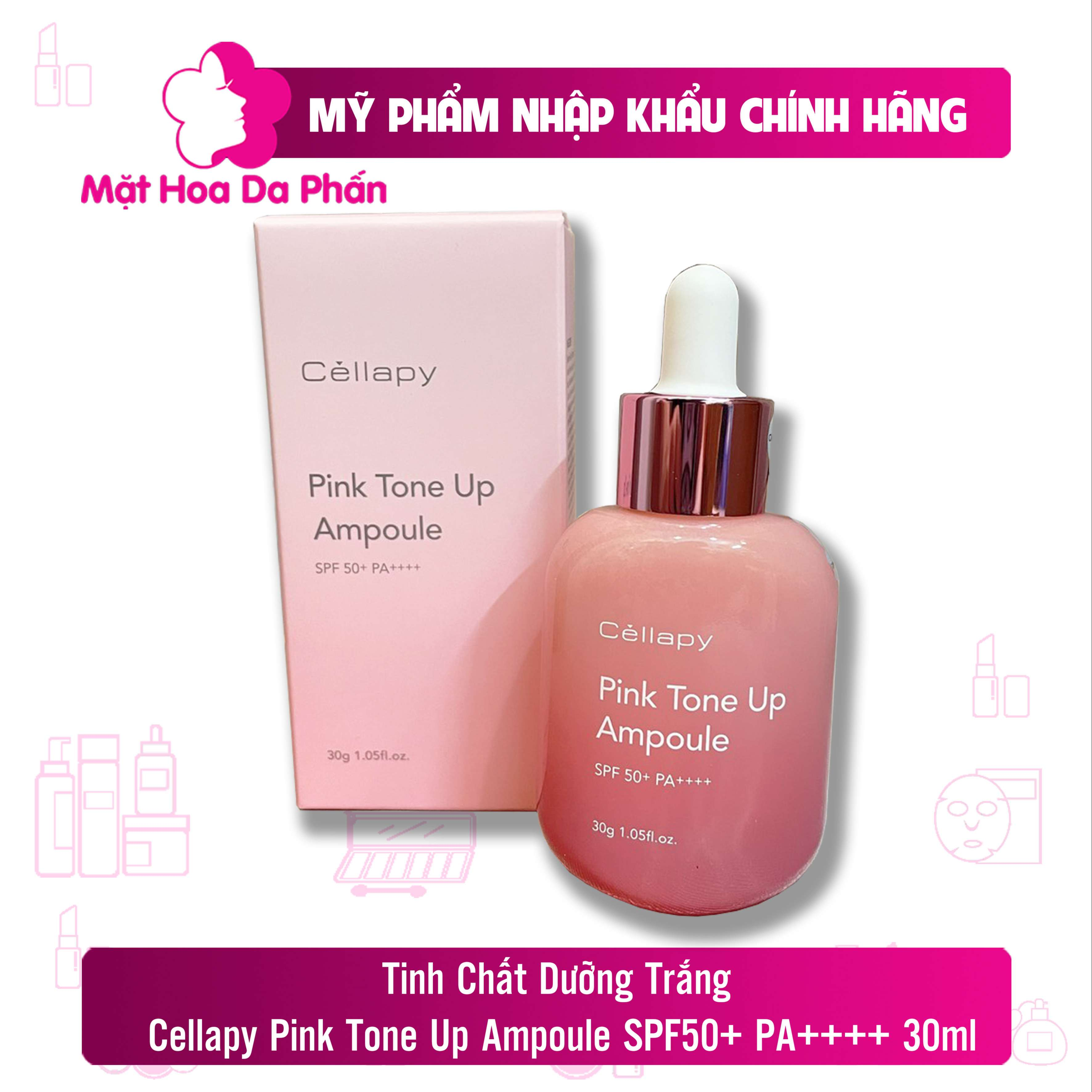 Tinh Chất Dưỡng Trắng Cellapy Pink Tone Up Ampoule SPF 50+ 35 PA+++30ml