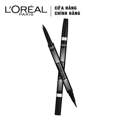 Kẻ Mắt L'Oreal 2 Đầu Super Liner Duo Metallics (Vàng)
