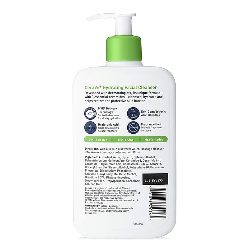 Sữa Rửa Mặt Cân Bằng Độ Ẩm CeraVe Facial Cleanser Moisture Balance 355ml