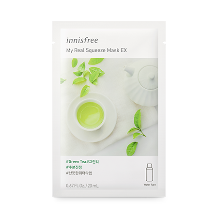 Mặt Nạ Innisfree My Real Squeeze Mask EX #Green Tea