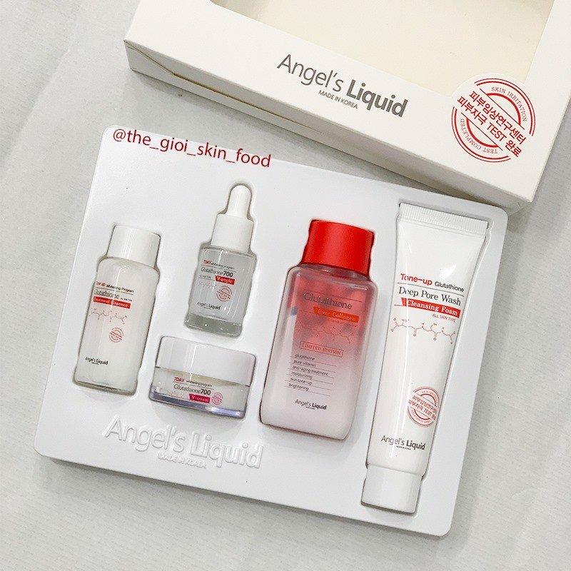 Bộ Dưỡng Da Angel's Liquid Whitening Program Glutathione Special Kit (5EA)