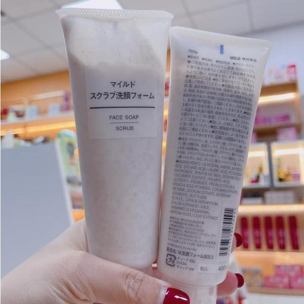 Tẩy Tế Bào Chết Muji Face Soap Scrub 120Gr