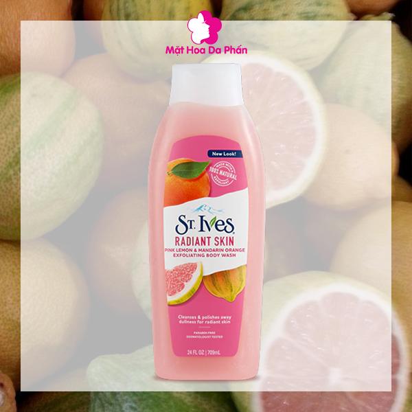 Sữa Tắm ST.Ives Radiant Skin Pink Lemon & Orange 709Ml