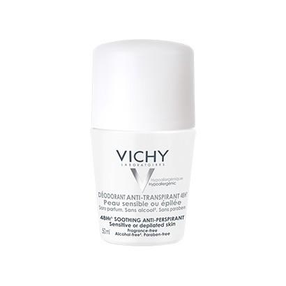 Lăn Khử Mùi Vichy Traitement Anti-Transpirant 48h (Nắp Trắng) 50ml