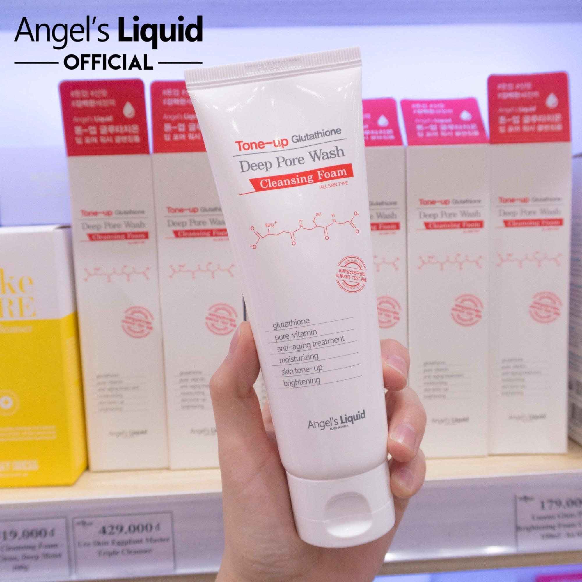 Sữa Rửa Mặt Angel's Liquid Tone Up Glutathione Deep Pore Wash 120ml