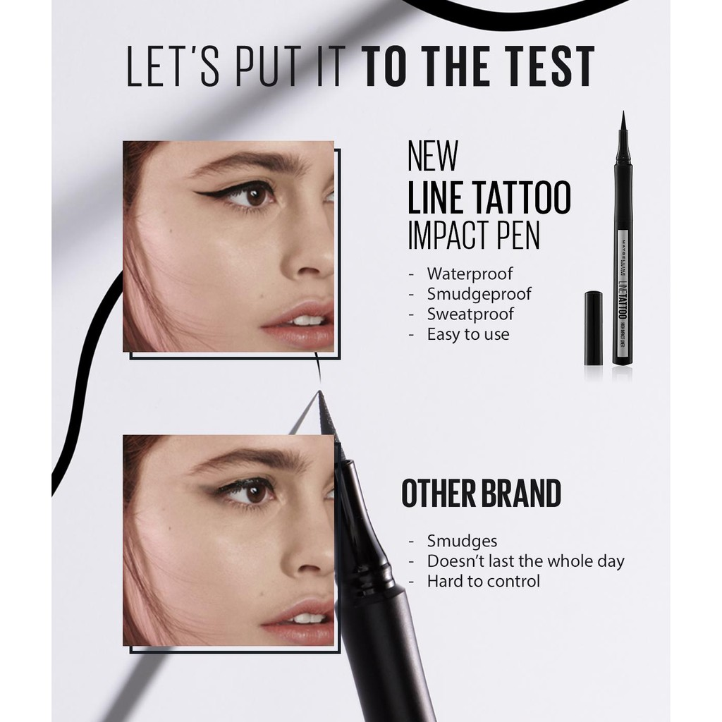 Kẻ Mắt Maybeline Line Tattoo High Impact Liner #Intense Black