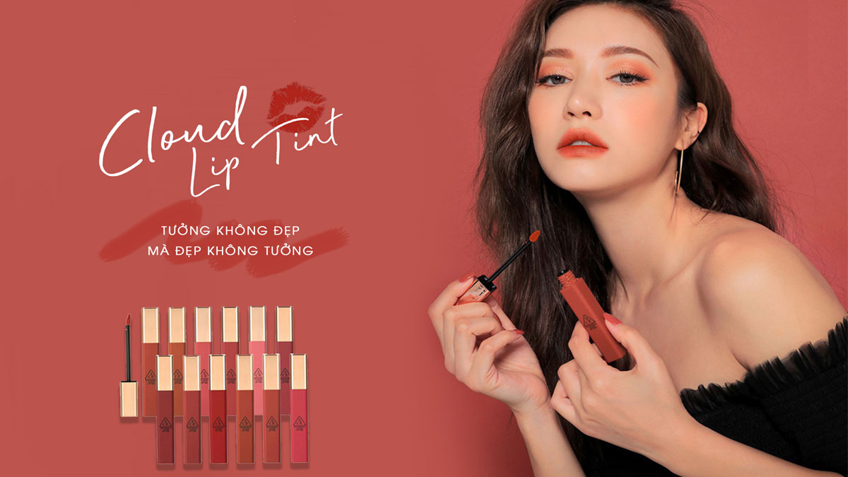 Son 3ce Cloud Lip Tint #Carrot Pink