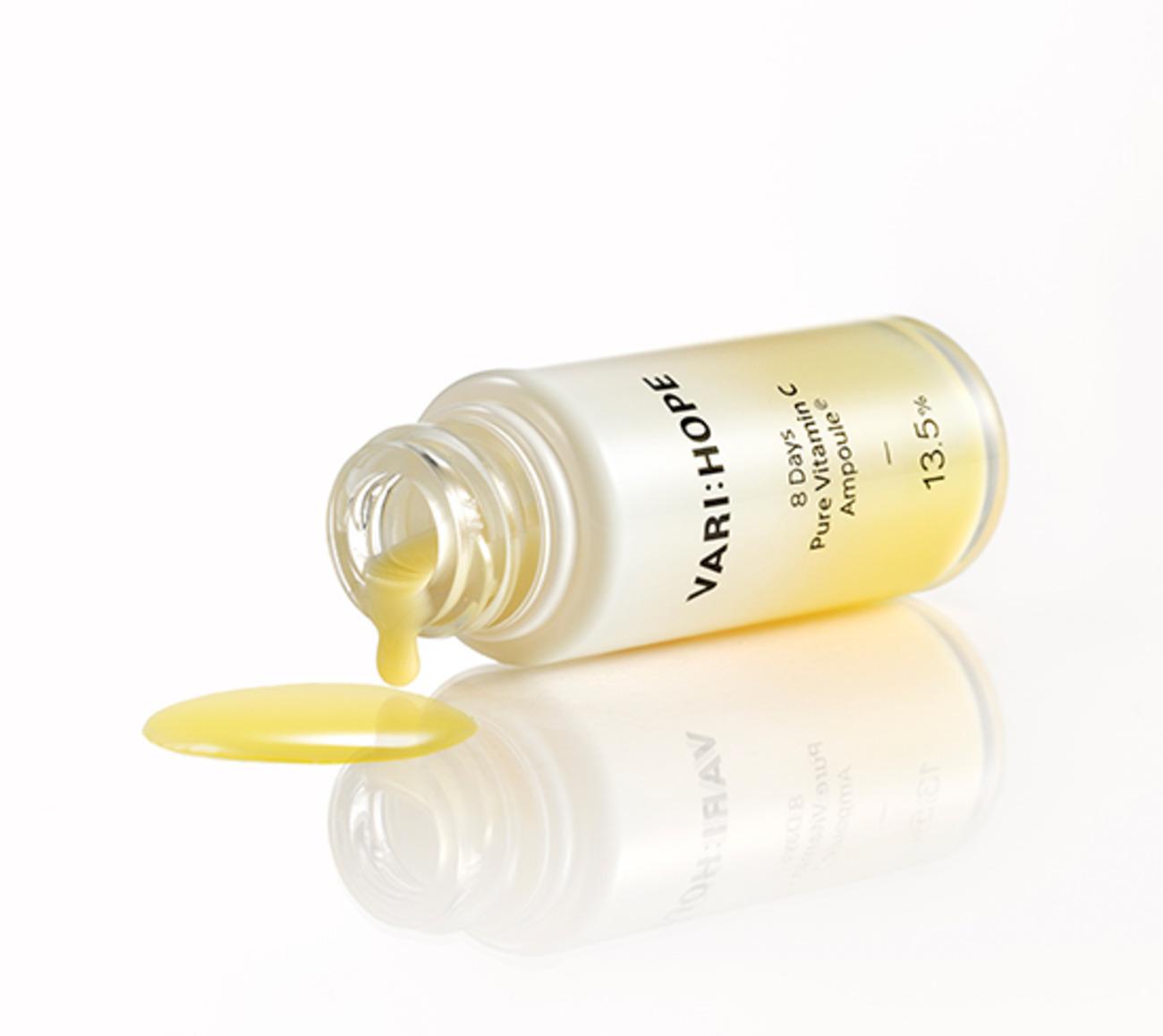 Tinh Chất Varihope 8 Day Pure Vitamin C Ampoule Plus Dưỡng Trắng Da Sau 8 Ngày 15g