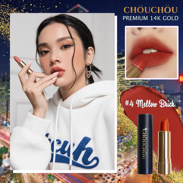 Son Chou Chou Premium Matte 14K Gold Edition #04 Mellow Brick