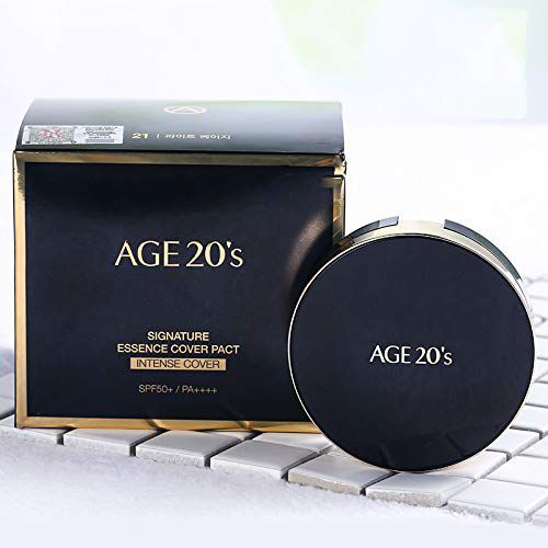 Phấn Nền Age 20's Signature Essence Cover Pact Intense Cover #21 (Đen)