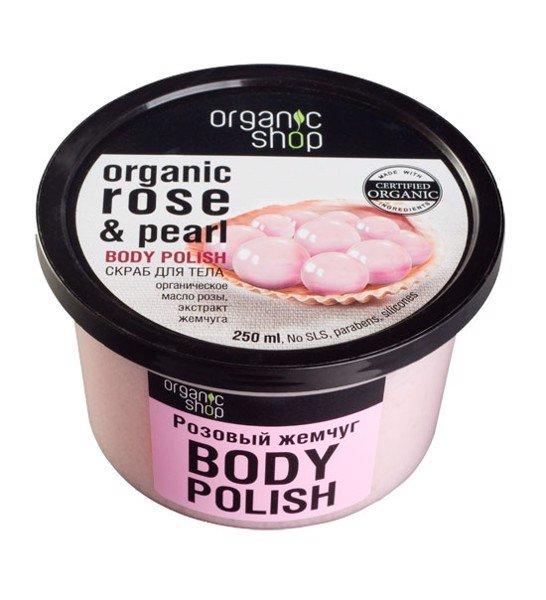 Tẩy TBC Body Organic Shop Rose & Pearl 250ml