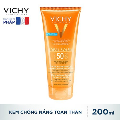 Kem Chống Nắng Vichy Ideal Soleil Body Milk Gel SPF50 Không Gây Nhờn