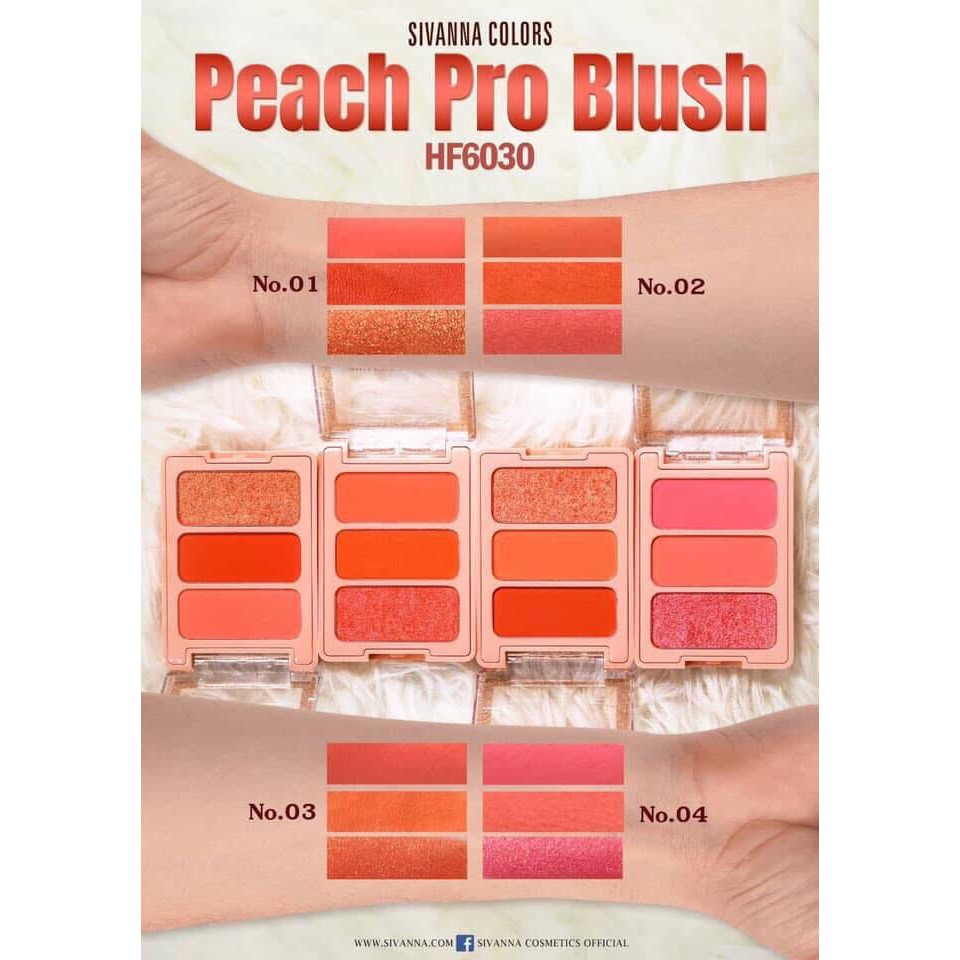 Phấn má Sivanna Peach Pro Blush #02