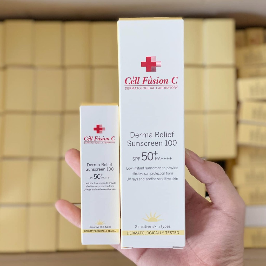 Kem chống nắng Cell Fusion C Derma Relief Sunscreen 100 SPF50+ PA++++