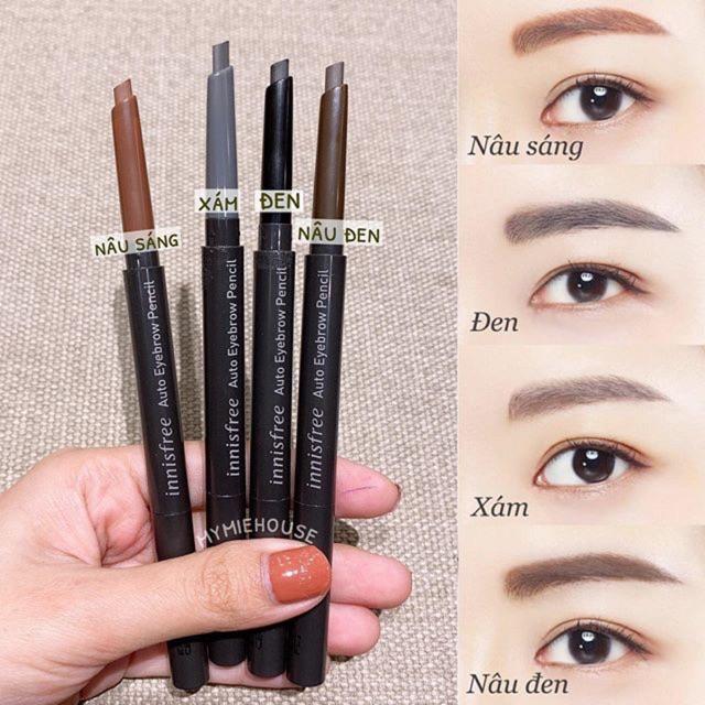 Chì Mày Innisfree Auto Eyebrow Pencil (Vỏ Đen) #02